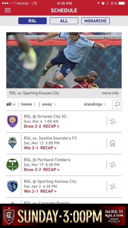 Real Salt Lake (Official Mobile App)