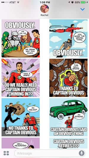 captain obvious stickers on the app store