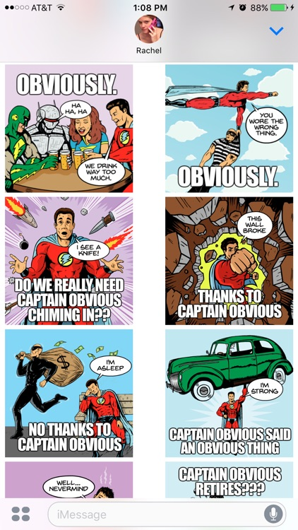 Captain Obvious Stickers