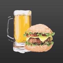 Hamburger Stickers for iMessage
