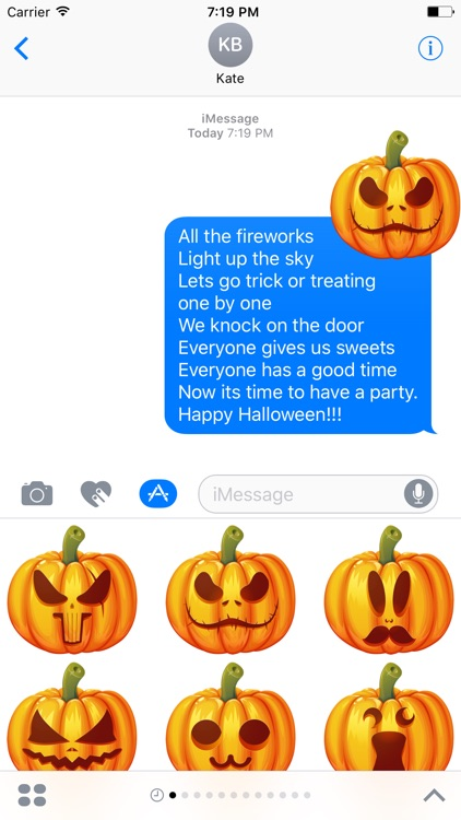 Pumpkin Halloween Emoji Sticker #3