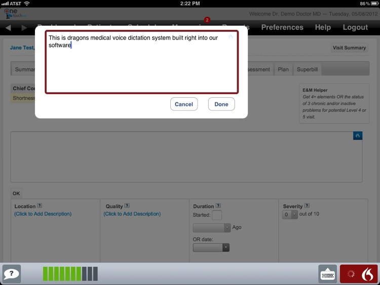 OneTouch EMR screenshot-1