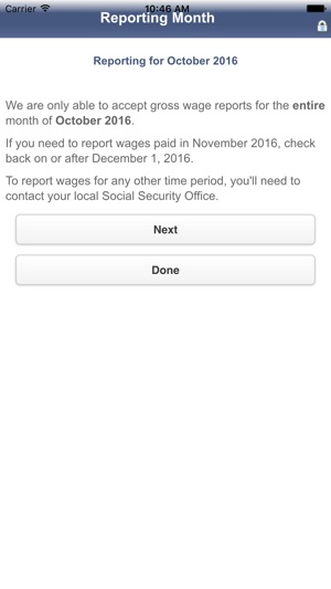 SSI Mobile Wage Reporting on the App Store