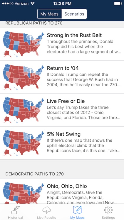 Presidential Election & Electoral College Maps screenshot-3