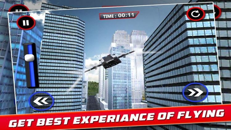 Flying Police Car screenshot-3
