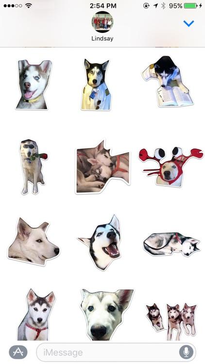 Husky Stickers by Cutesy screenshot-4