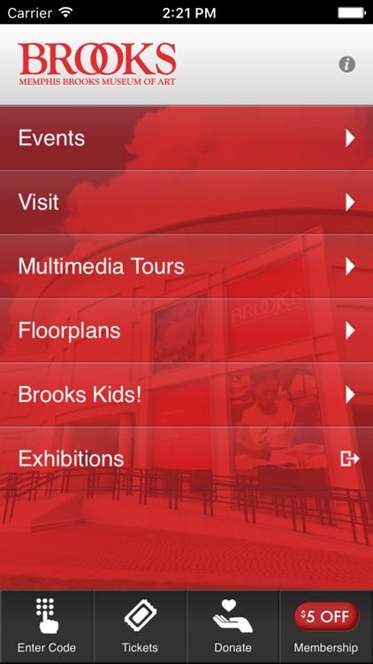 Memphis Brooks Museum of Art Mobile Application