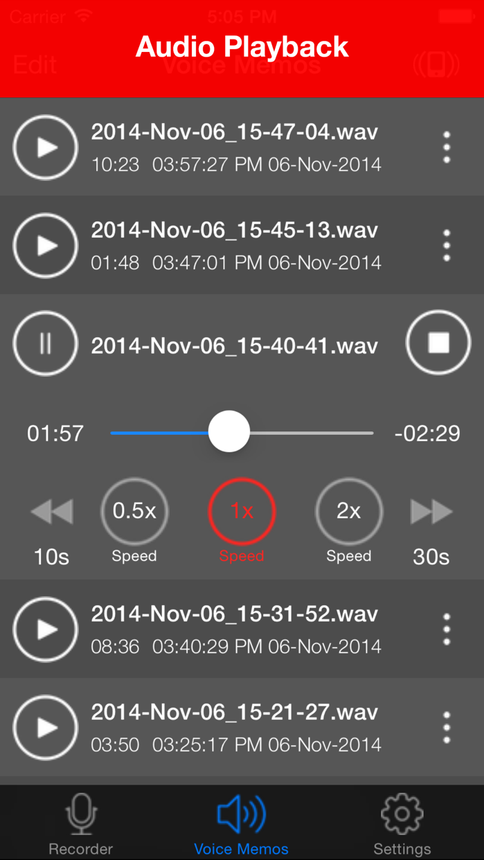 Voice Recorder Lite: HD Audio Recording & Playback Screenshot