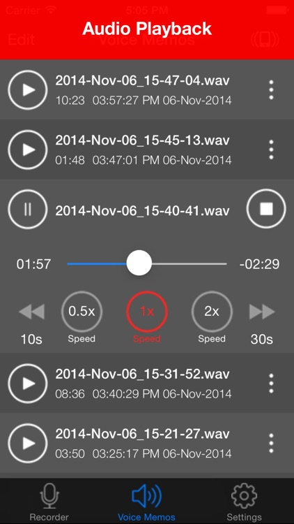 Voice Recorder Lite: HD Audio Recording & Playback screenshot-1