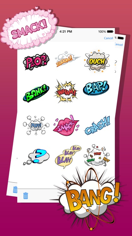 Comic Effects Expressions and Emojis Stickers