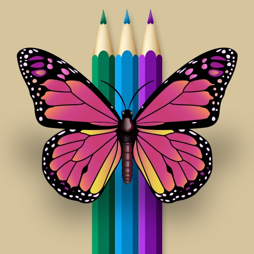 Interactive Touch Coloring Book of Butterfly free