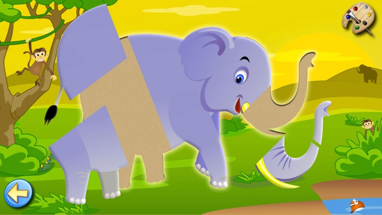 Savanna Animals: Toddlers Games Puzzles Kids Free screenshot-3