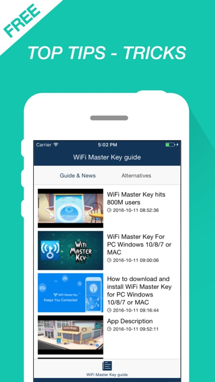 Guide for WiFi Master Key - WEP Password Connectio by Thuy Bui