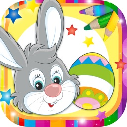 Paint the Easter egg – decorate and color bunnies