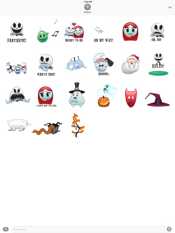 screenshot 5 for disney stickers the nightmare before christmas