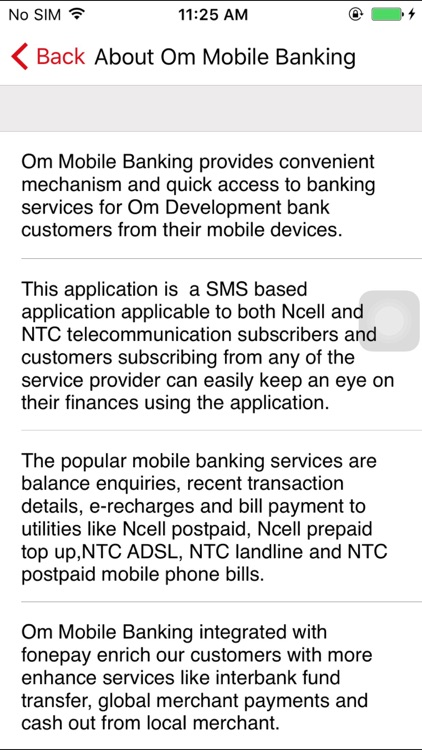 Om Mobile Banking