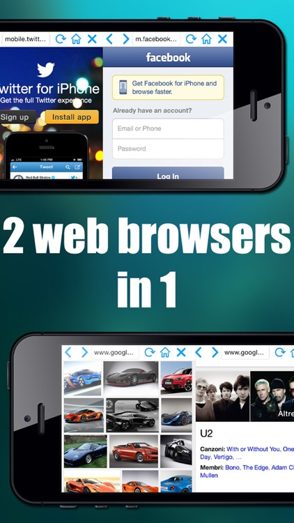 Double Browser ( 2 browser in 1 )