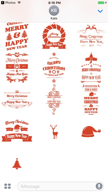 Merry Christmas Wishes Sticker screenshot-3