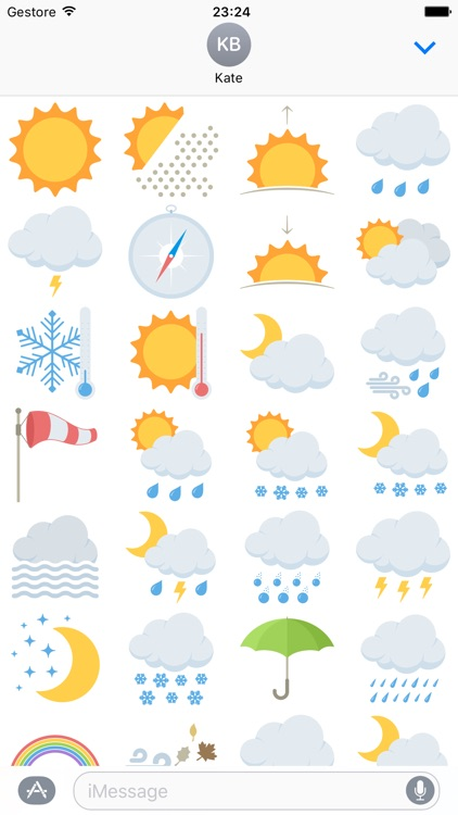 Weather Sticker