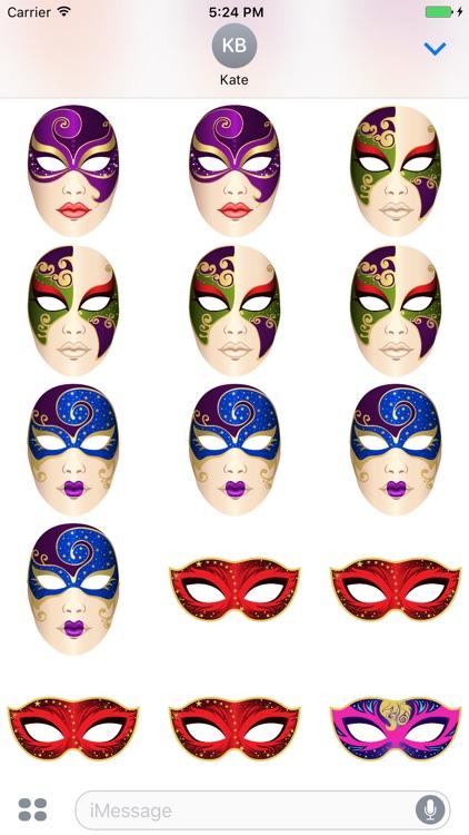 Carnival Mask Stickers Mania screenshot-3