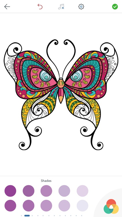 Adult Butterfly Coloring Book screenshot-3