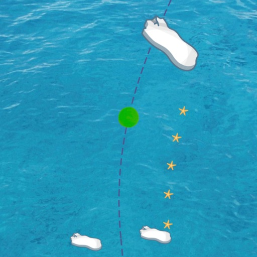 Incredible Journey of Green Dot 3. Blue sea.