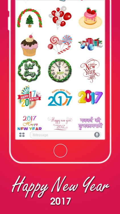Merry Christmas & New Year Stickers