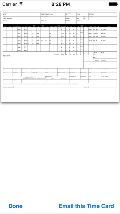 Department Time Card screenshot-4