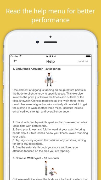 Qigong Workout Challenge PRO - Gain longevity screenshot-4