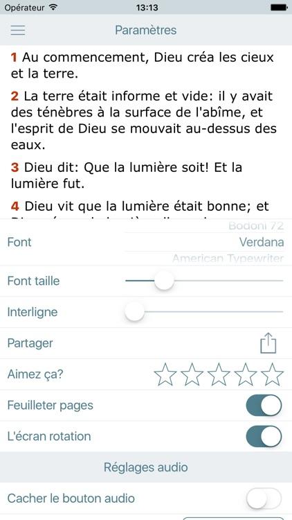 La Bible Offline Gratuite en Audio - Louis Segond screenshot-4