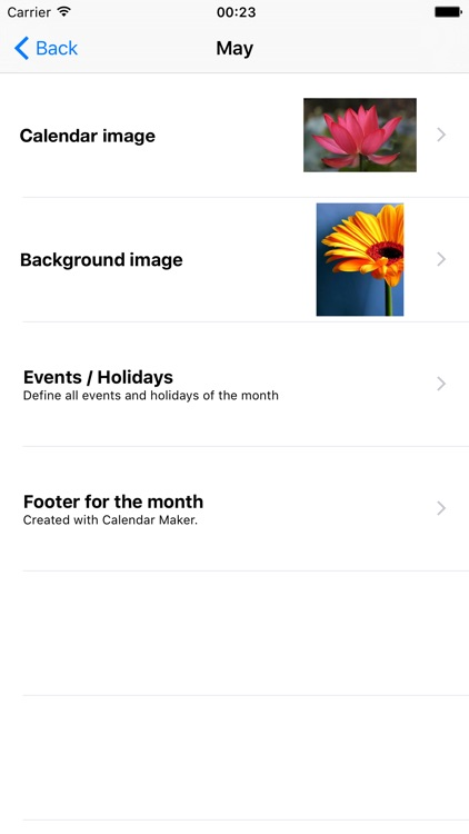 Calendar Maker 2017 - Create Photo Calendar as PDF screenshot-2