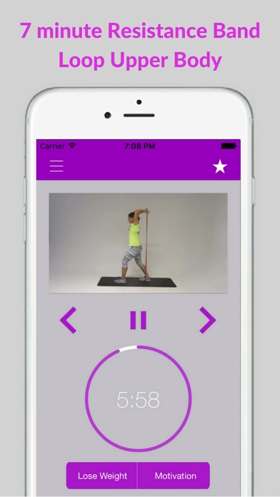 Resistance Band Workout Trainer Exercises Training screenshot one