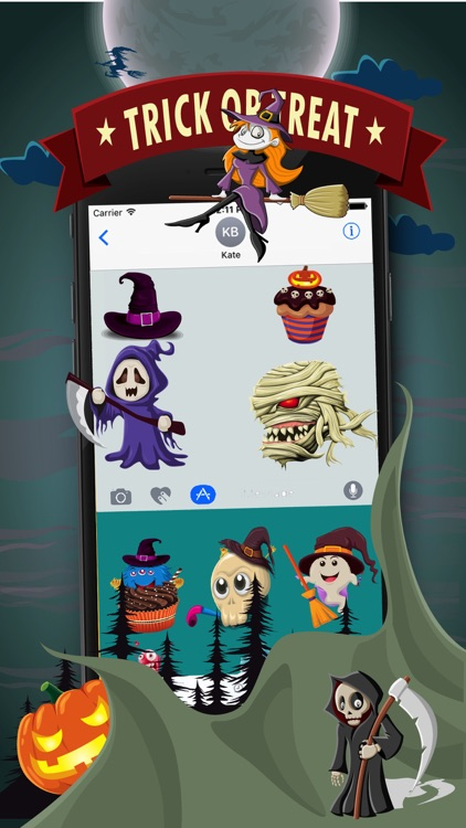 HalloMoji  Halloween Stickers & Emojis screenshot-4