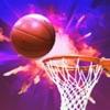 バスケットボールの3次元フリーバスケットボールシューティングゲーム