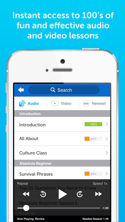 Innovative 101: Learn 34 Languages Spanish English app image
