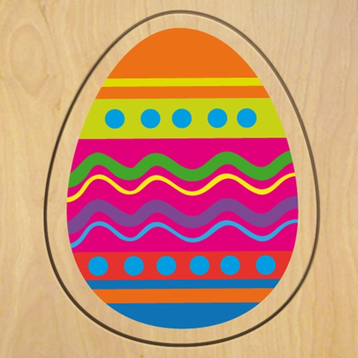 Wood Puzzle Easter Colors HD
