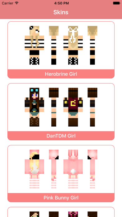 Girl Skins for MCPE - Skin Parlor for Minecraft PE by Nadeem