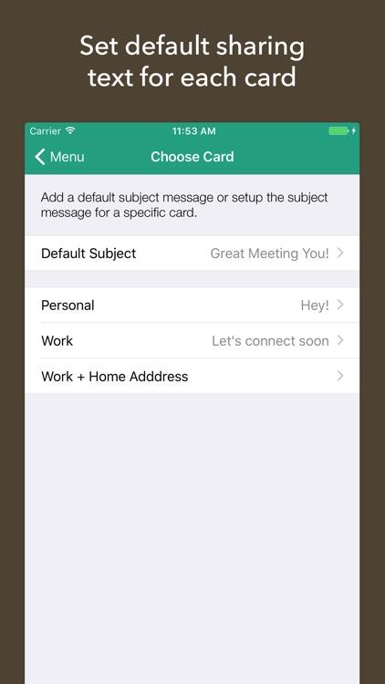 Share Contacts: Card Share screenshot-3