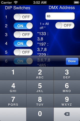 DMXDIPster screenshot 1