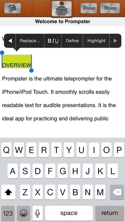 Prompster Pro™ - Teleprompter screenshot-3