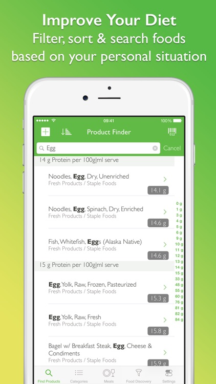 CalorieGuide Food Nutrition Facts Calculator for Fresh Produce & Healthy Diet Living screenshot-4