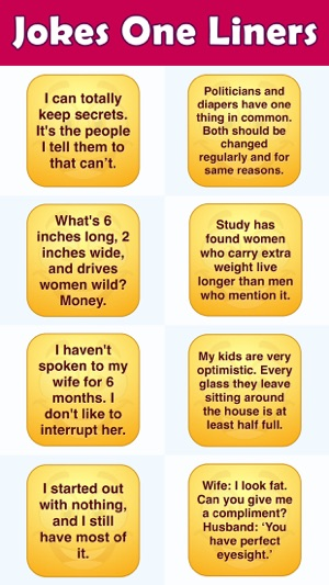 Jokes One Liners - Stickers Set 1