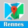 雷恩旅游指南地铁定位去哪儿法国世界地图 Rennes metro star map guide