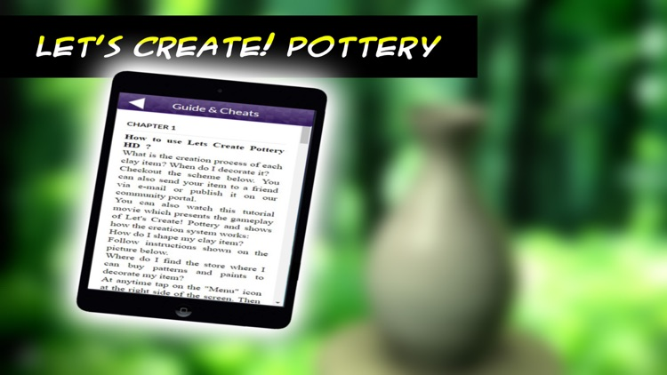 App Guide for Let's create! Pottery HD