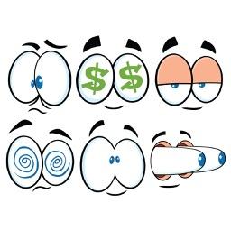 Cartoon Eye Sticker Pack