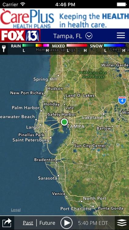 SkyTower Radar app from FOX 13 Tampa Bay