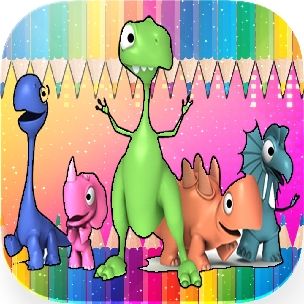 Animals Dino Coloring Book - Education Painting For Kids Toddlers And Preschoolers Kindergarten Learn Game hack