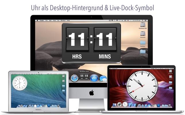Schreibtisch Uhr: Hintergrundbilder & Dock Symbol Screenshot