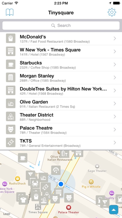 Tinysquare for Foursquare