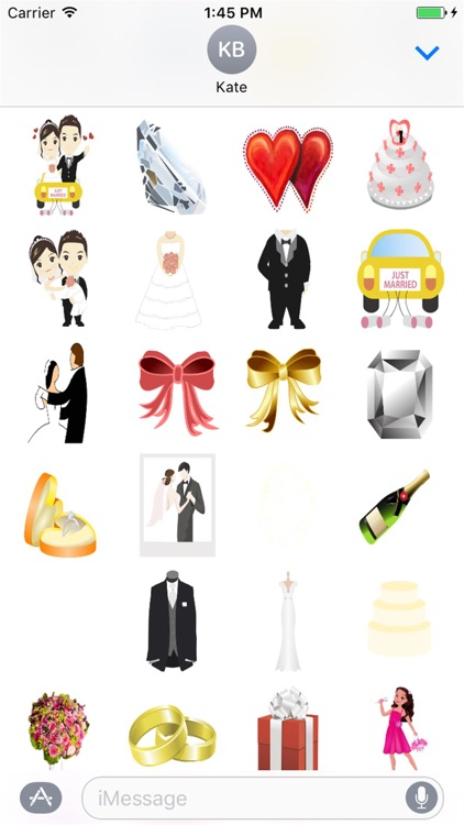 Adorable Wedding Stickers for iMessage